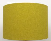 Shetland Brushed Lime Linen Style Cylinder / Drum Lampshade